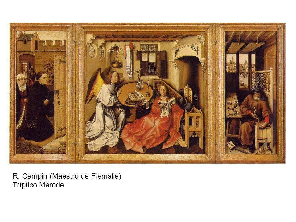 San Juan y el Maestro Enrique de Werl Santa Bárbara Robert Campin