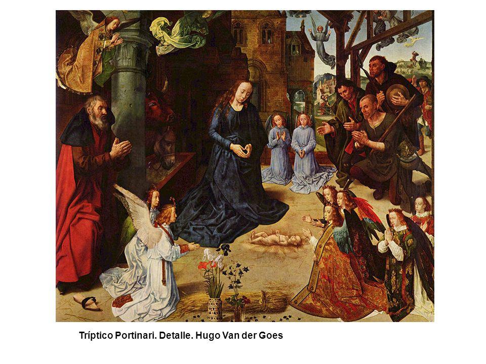 Tríptico Portinari. Detalle. Hugo Van der Goes
