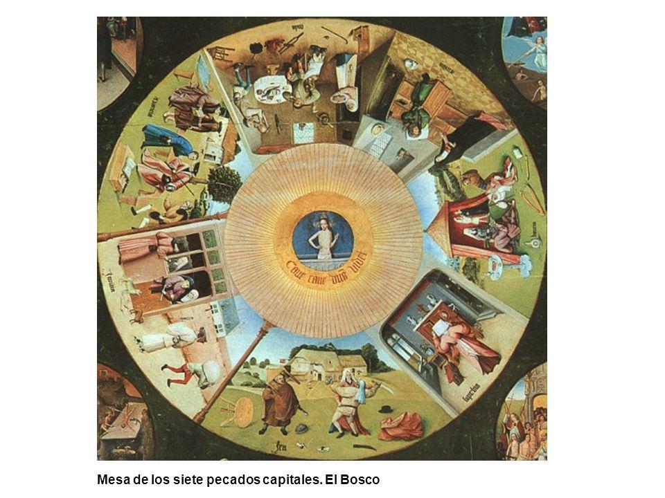 Mesa de los siete pecados capitales. El Bosco