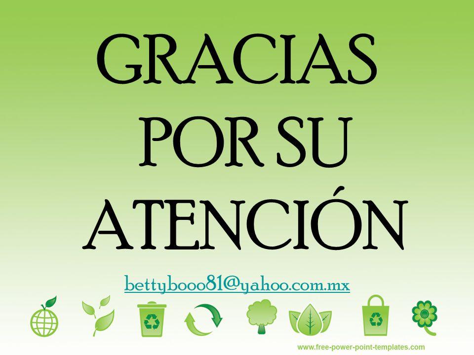 GRACIAS POR SU ATENCIÓN bettybooo81@yahoo.com.mx