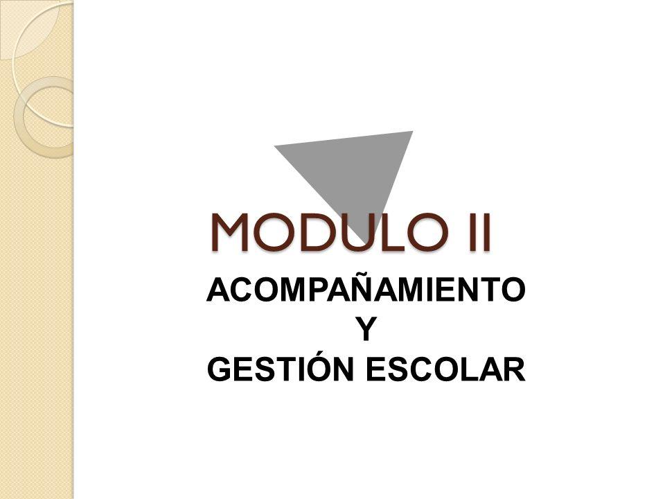 MODULO II ACOMPAÑAMIENTO Y GESTIÓN ESCOLAR