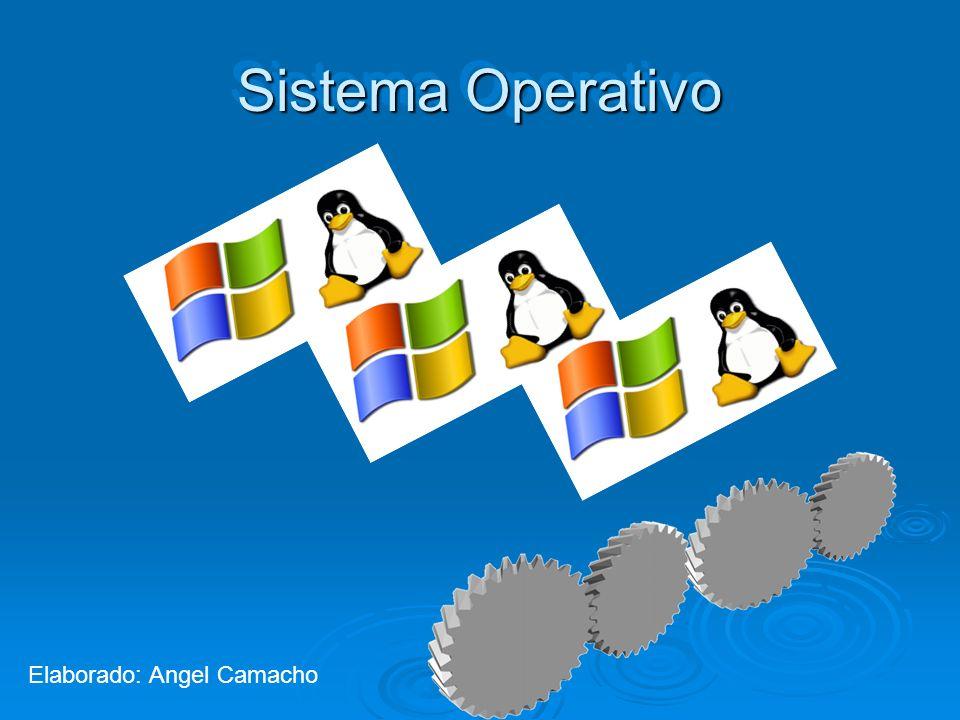 Sistema Operativo Elaborado: Angel Camacho