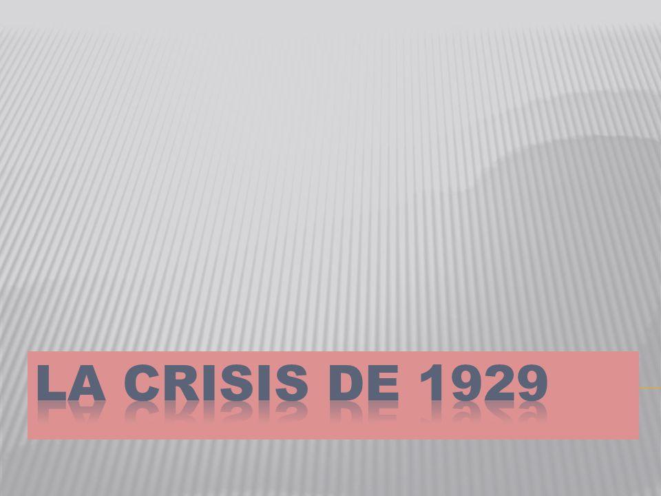 LA DEPRESIÓN FUE ANUNCIADA POR EL CRAC DEL MERCADO DE VALORES DE NUEVA YORK LOS MERCADOS DE VALORES EUROPEOS HABÍAN CAÍDO ANTES: ALEMANIA 1927, REINO UNIDO 1928, FRANCIA 1929.