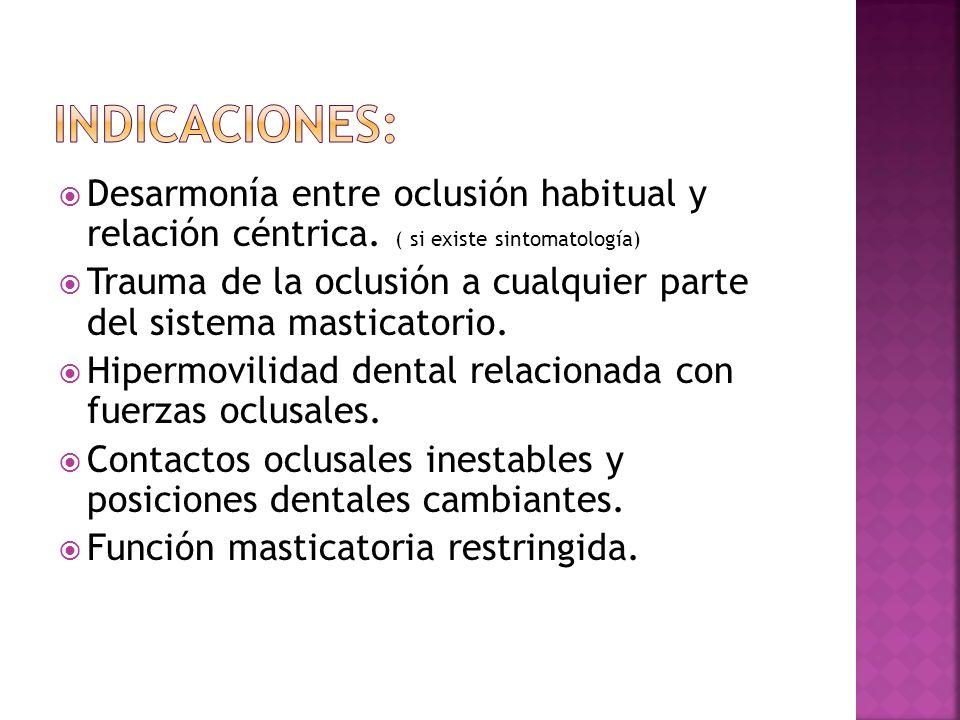 Preparación para restauraciones extensas.Adicional al tratamiento de periodontitis avanzada.