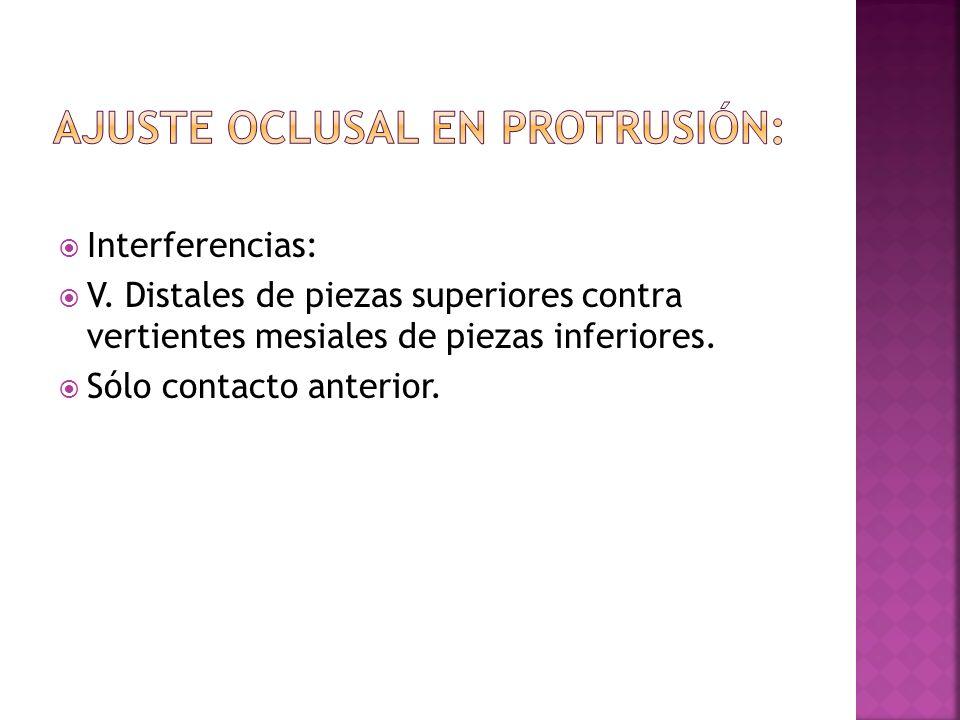 Verificación Relación céntrica: contactos oclusales uniformes.