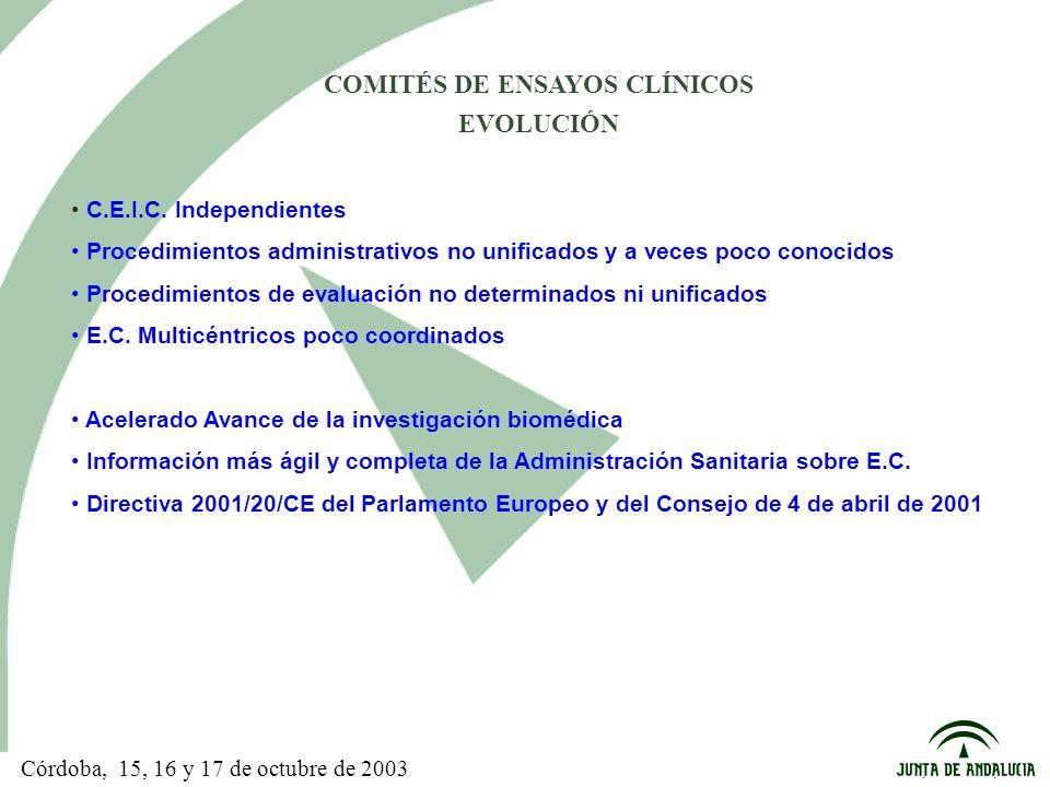 C.E.I.C. Independientes Procedimientos administrativos no unificados y a veces poco conocidos Procedimientos de evaluación no determinados ni unificad