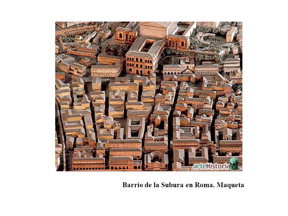 Barrio de la Subura en Roma. Maqueta