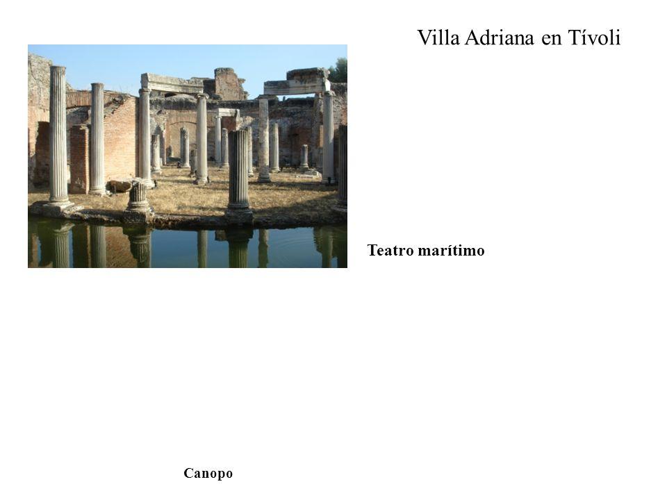 Villa Adriana en Tívoli Teatro marítimo Canopo