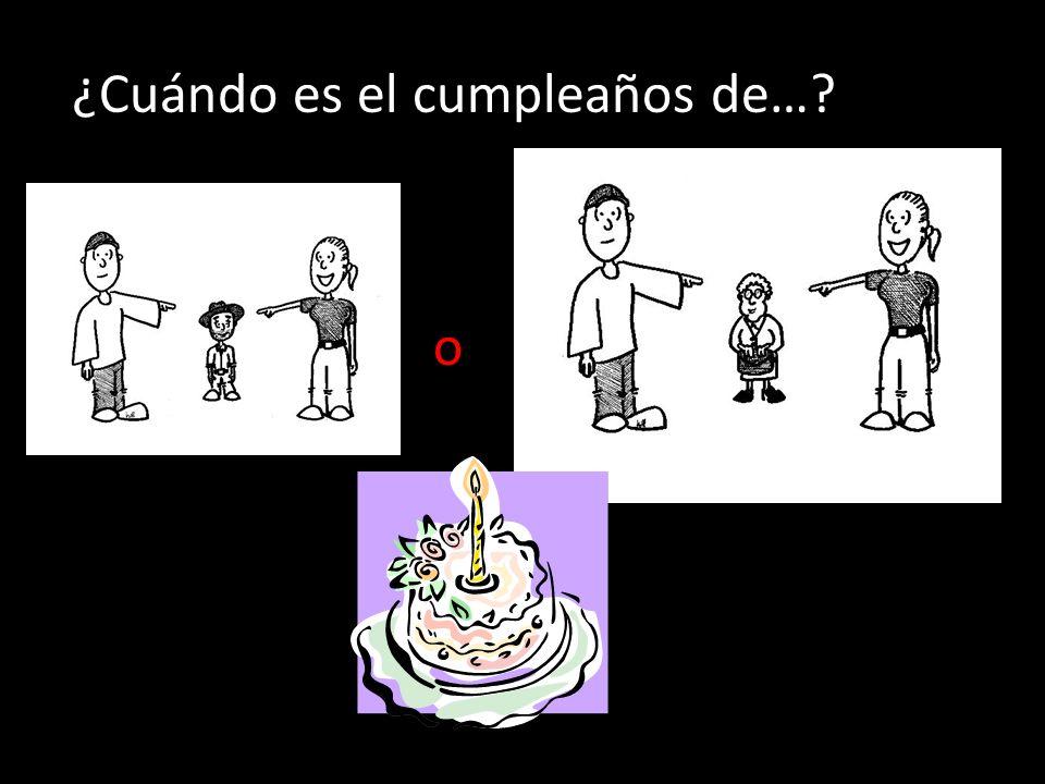 ¿Cuándo es el cumpleaños de…? o