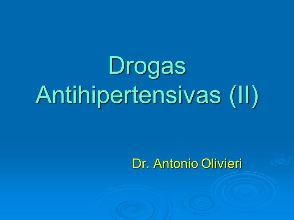 Usos especiales en hipertensos Asociar a vasodilatadores directos (bloquean estimulación simpática refleja).