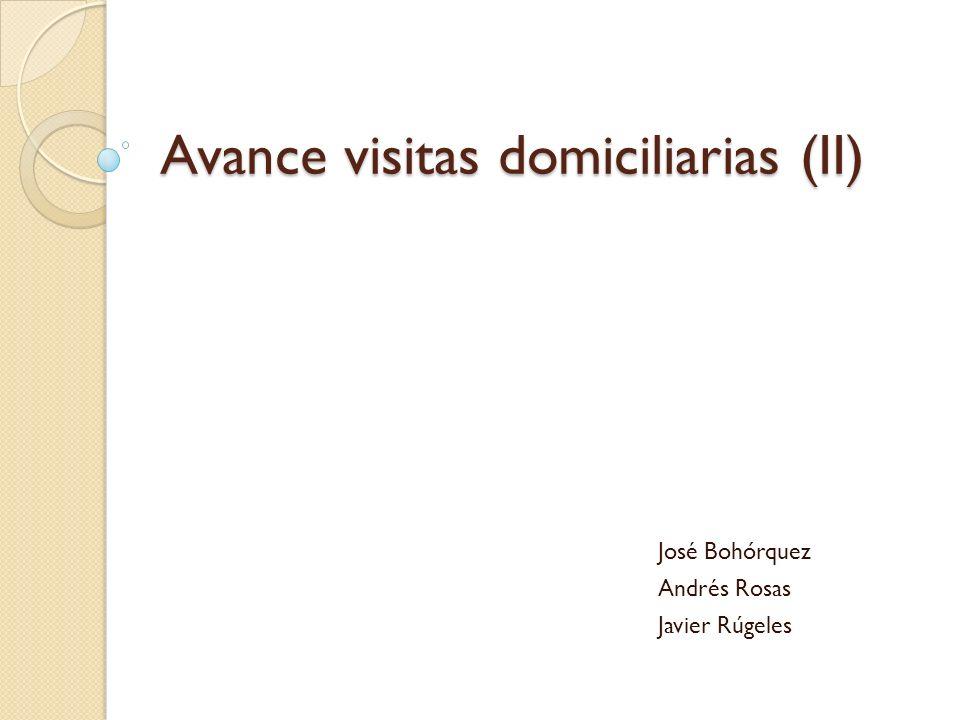 Avance visitas domiciliarias (II) José Bohórquez Andrés Rosas Javier Rúgeles