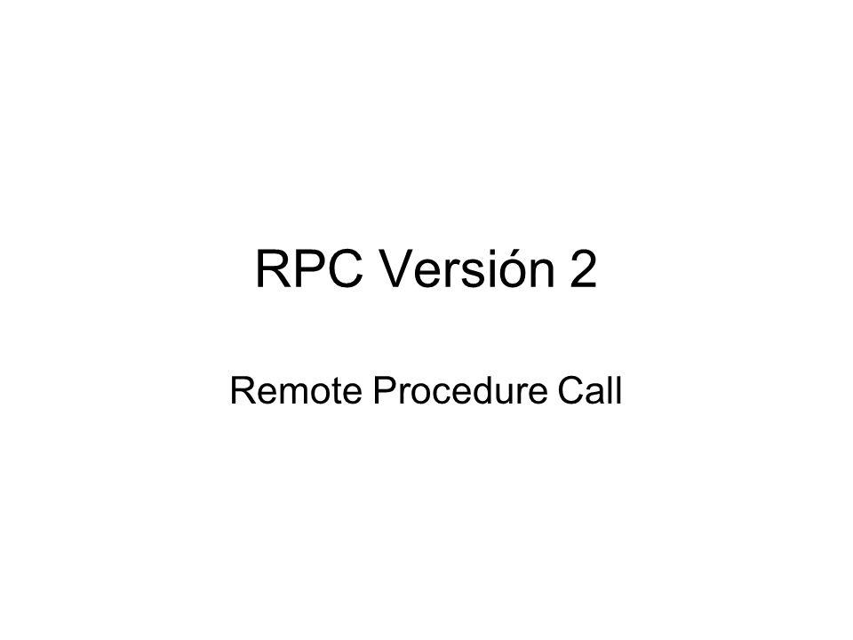 Objetivo Permitir la ejecución de programas remotos.