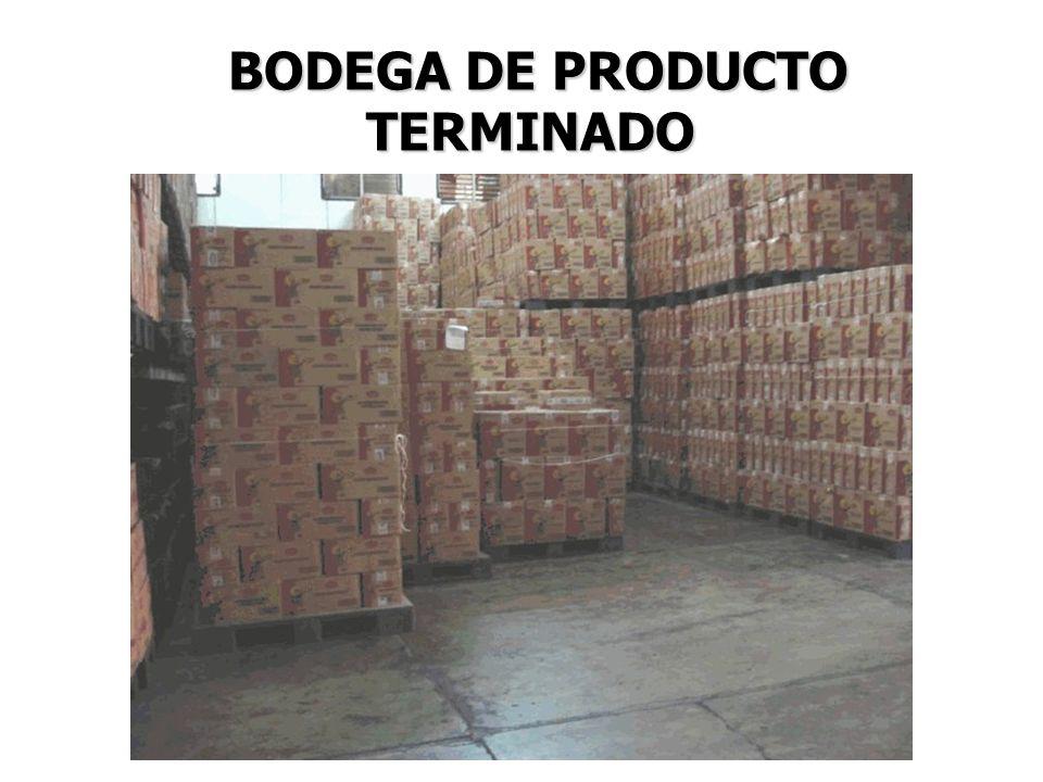 BODEGA DE PRODUCTO TERMINADO BODEGA DE PRODUCTO TERMINADO