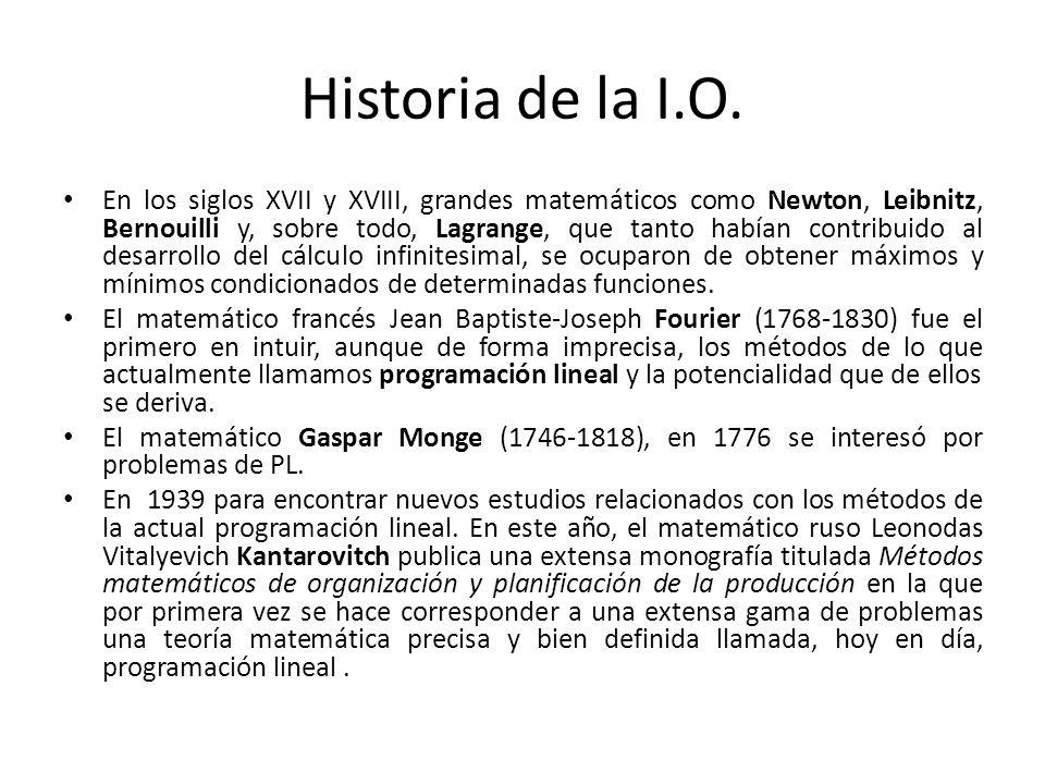 Historia de la I.O.