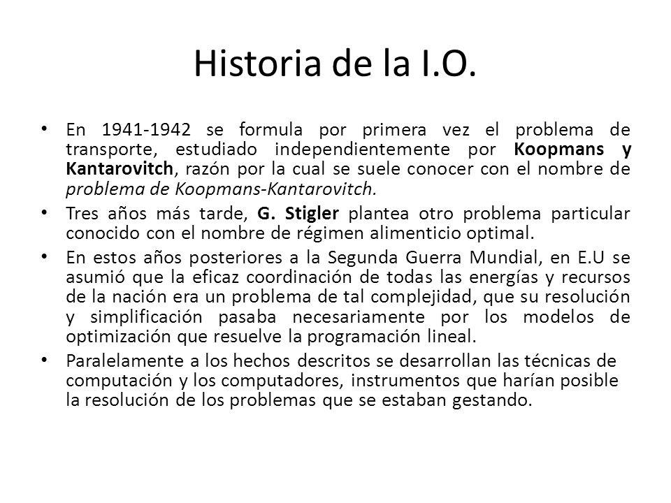 Historia de la I.O.En 1947, G.B.
