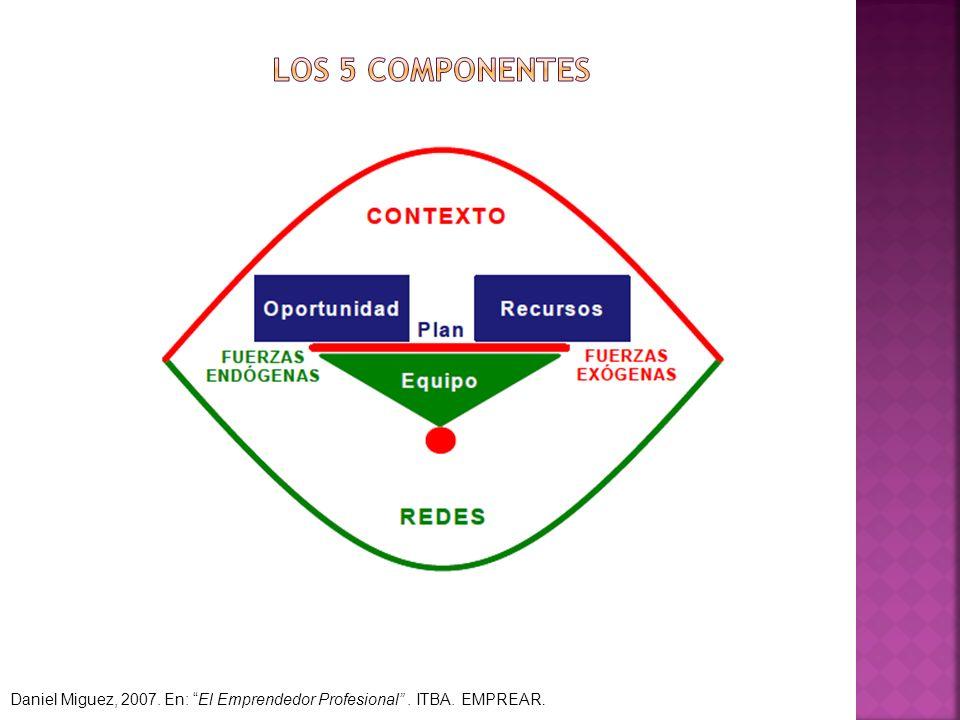 Daniel Miguez, 2007. En: El Emprendedor Profesional. ITBA. EMPREAR.