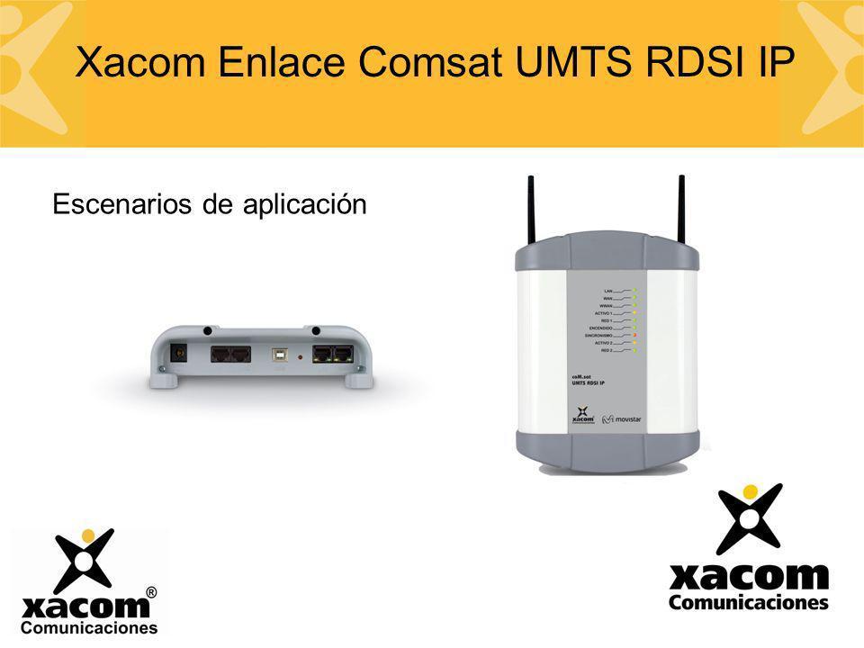 Escenarios de aplicación Xacom Enlace Comsat UMTS RDSI IP
