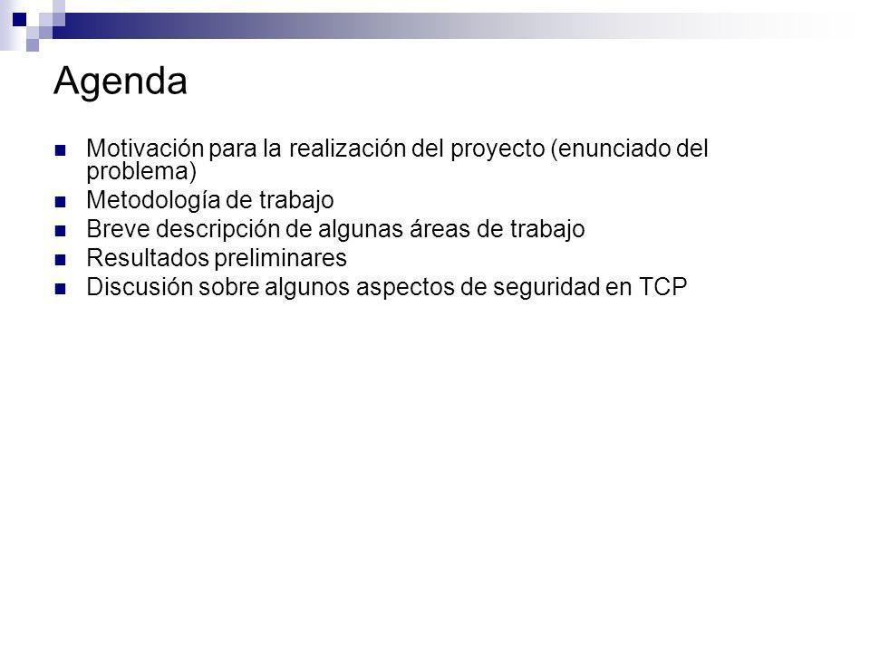 Agenda Motivación para la realización del proyecto (enunciado del problema) Metodología de trabajo Breve descripción de algunas áreas de trabajo Resul