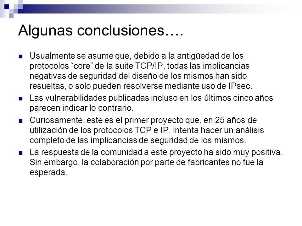 Algunas conclusiones….