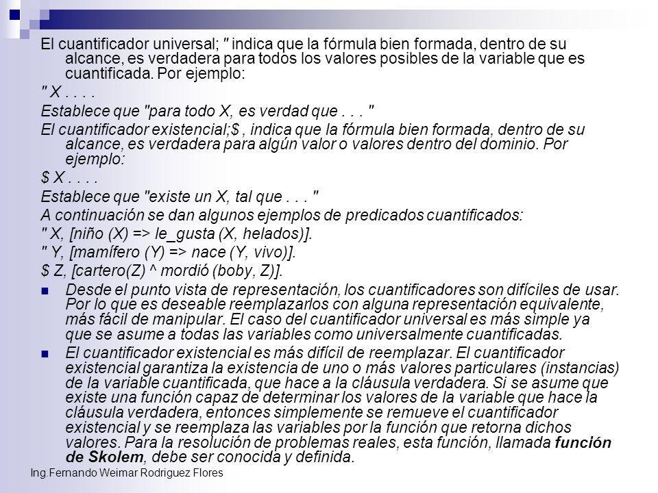 Ing.Fernando Weimar Rodriguez Flores El cuantificador universal;