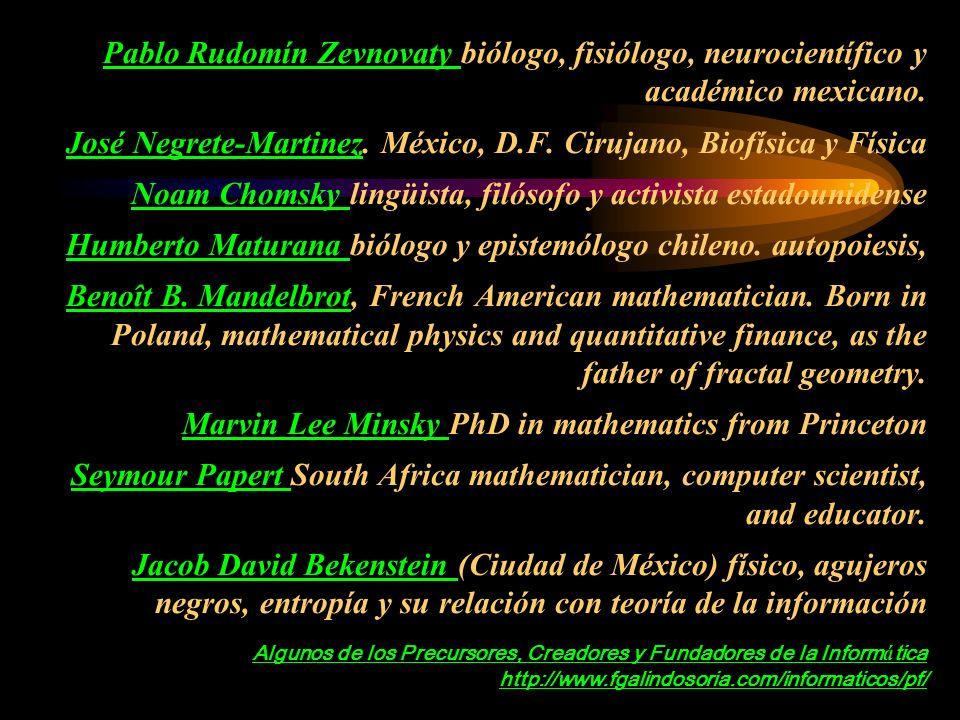 Psicólogos, Neurofisiólogos, Filósofos, Físicos, Matemáticos, Lingüistas, Biólogos, Fisiólogos, y otros, se dieron cuenta de que tenían múltiples puntos de contacto W.Ross Ashby, Warren McCulloch, Grey Walter, and Norbert Wiener at a meeting in Paris.