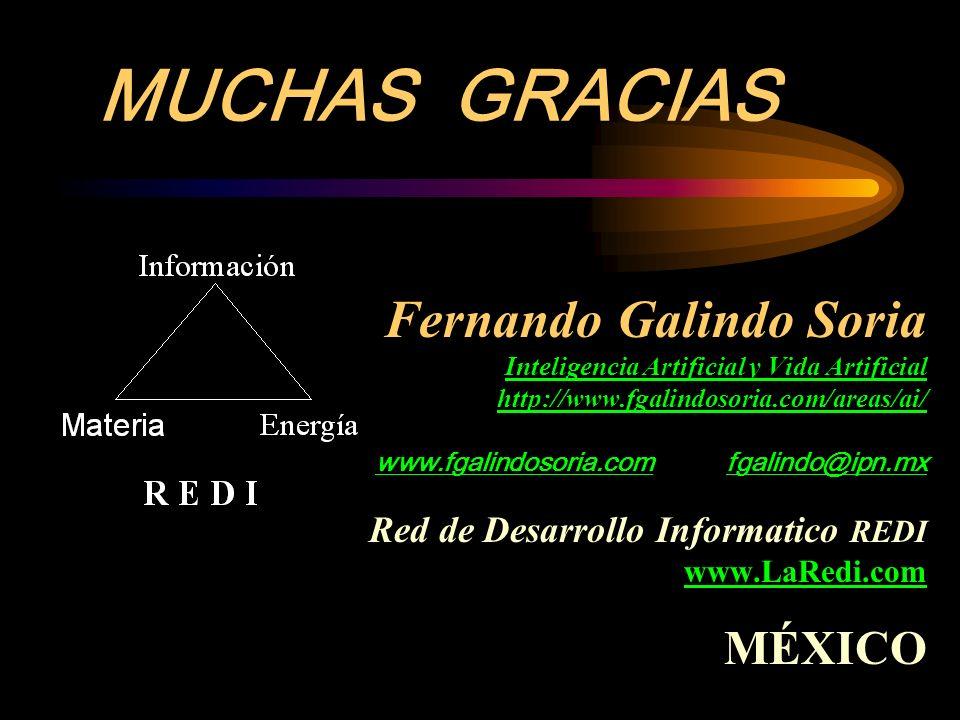 Fernando Galindo Soria Inteligencia Artificial y Vida Artificial http://www.fgalindosoria.com/areas/ai/ www.fgalindosoria.com fgalindo@ipn.mx Red de D