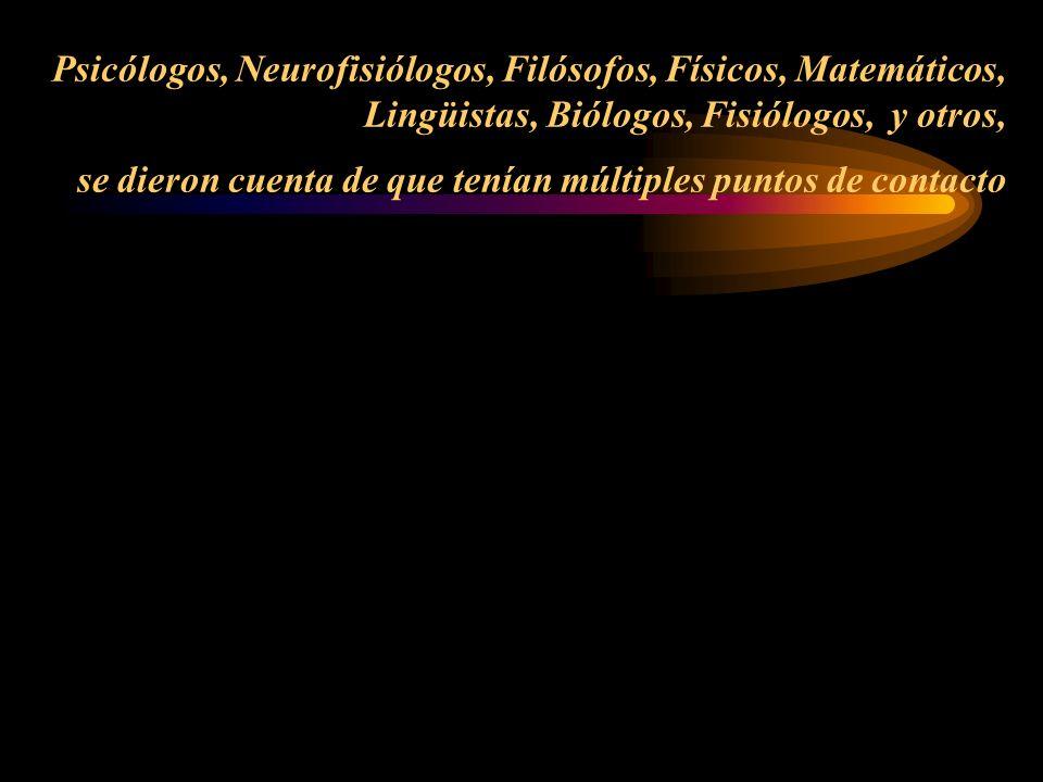 Psicología Neurologí a Matemática s Etologí a Física Sociología -------