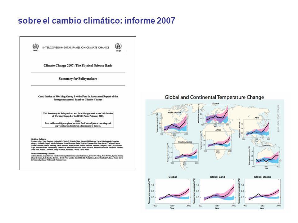 sobre el cambio climático: informe 2007