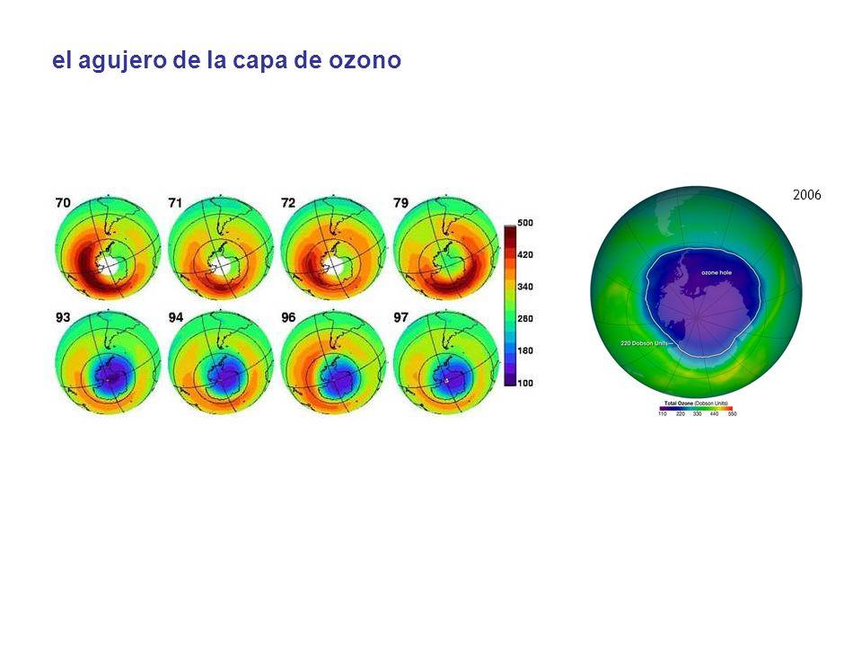 el agujero de la capa de ozono 2006