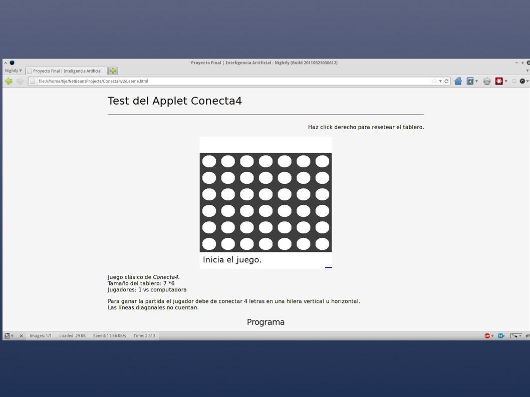 Programa A continuación citamos las partes relevantes del código usado en el juego: Como usamos A*, calculamos los movimientos posibles en Profundidad.
