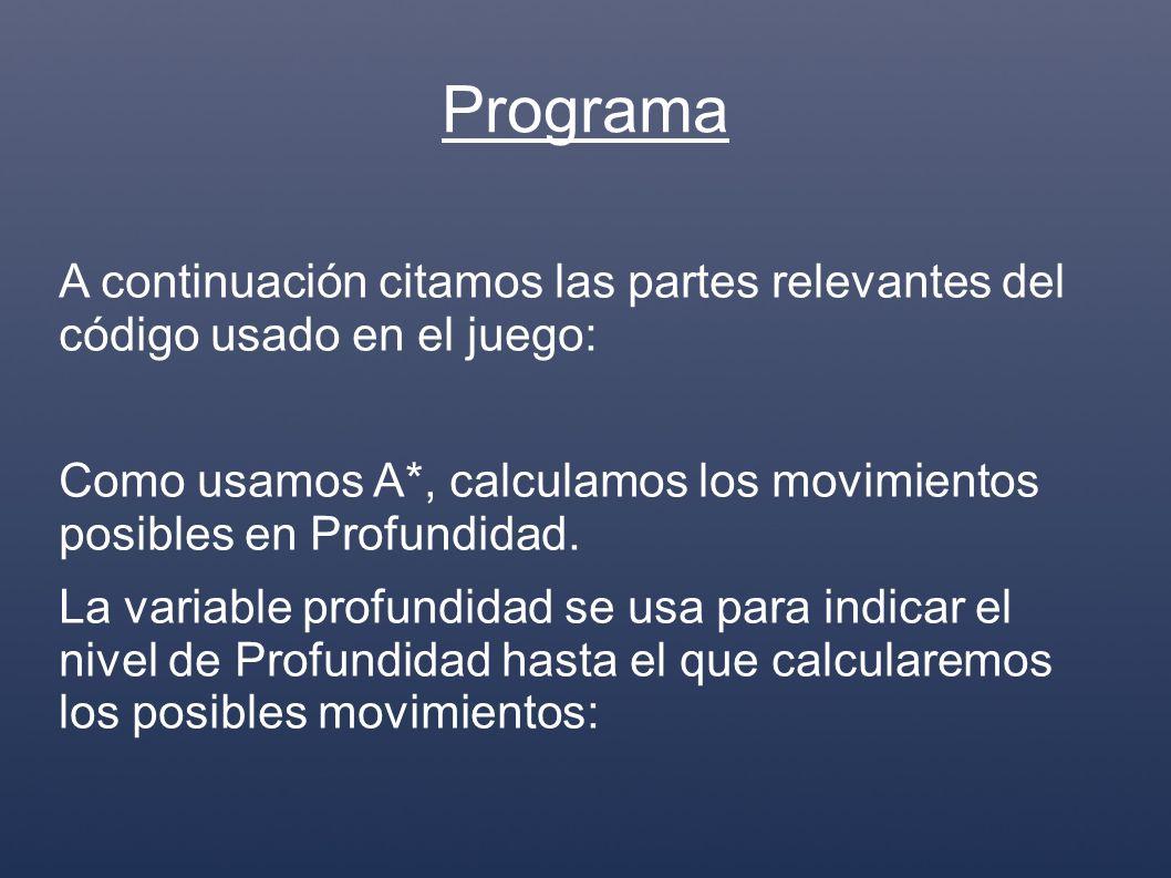 /** Programa que Inicia un juego de Conecta4 * @SuppressWarnings( deprecation ) * @author Augusto Tijerina * @author Ingeniería en Sistemas * @version 0.01 */ class Conecta4Main { public final static int VACIO = 0; public final static int COMPUTADORA = 1; public final static int JUGADOR = -1; public final static int BORDER = 99; public final static int JUEGO_EN_CURSO = 0; public final static int GANADO = 1; public final static int TABLERO_LLENO = -1; public final static int EMPATADO = 0; public final static int JUGADOR_GANA = 1; public final static int JUGADOR_PIERDE = -1;
