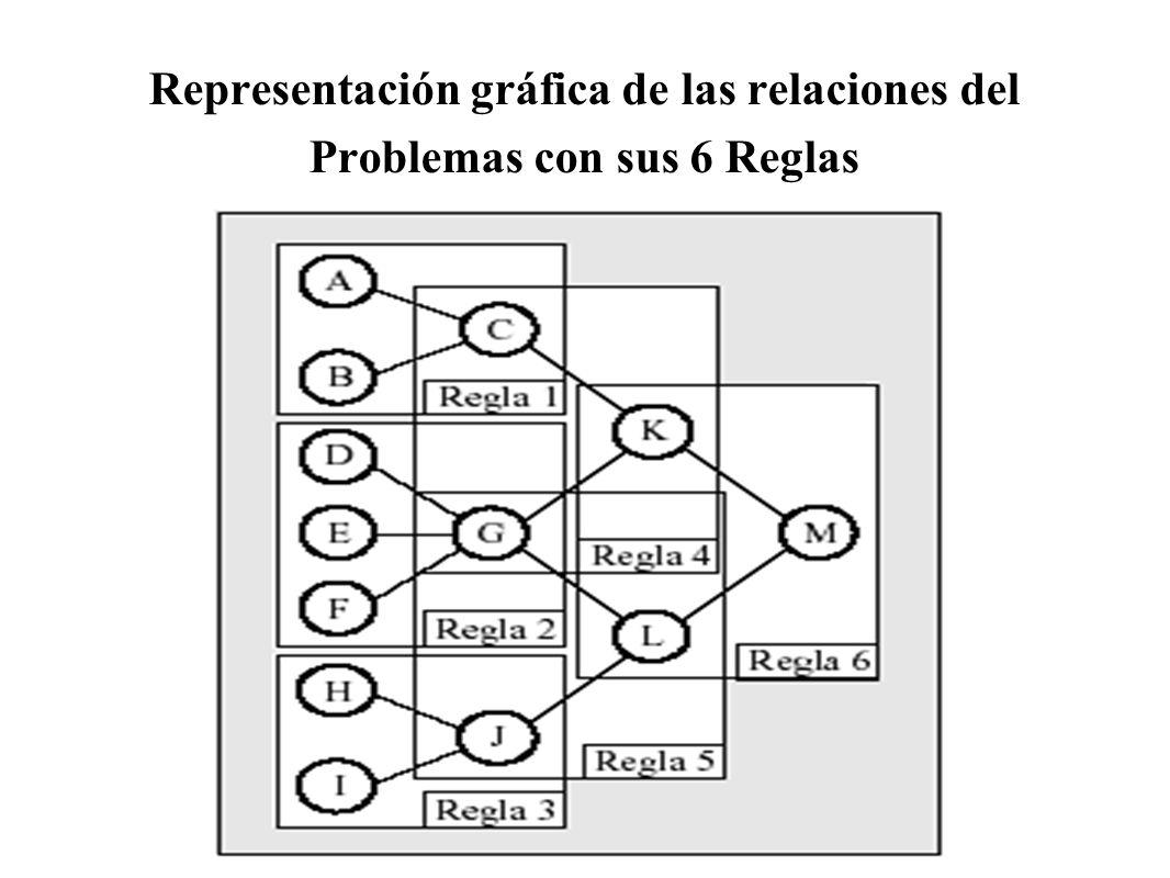 Representación gráfica de las relaciones del Problemas con sus 6 Reglas