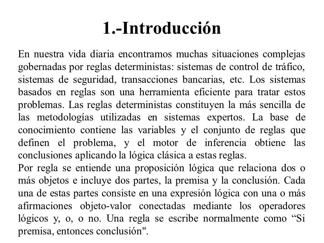1.-Introducción En nuestra vida diaria encontramos muchas situaciones complejas gobernadas por reglas deterministas: sistemas de control de tráfico, s