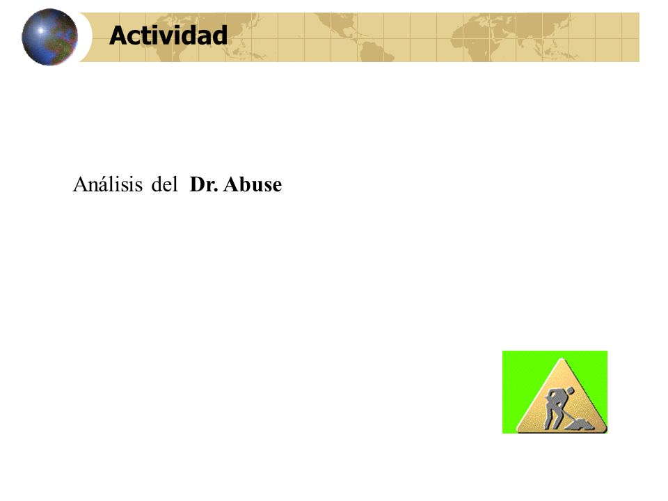 Actividad Análisis del Dr. Abuse