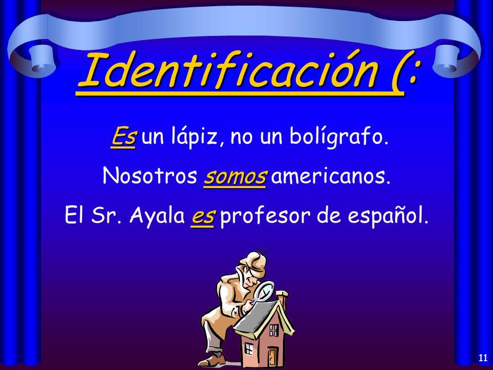 10 El Origen: es Juan es de España. es El libro es de Guatemala.