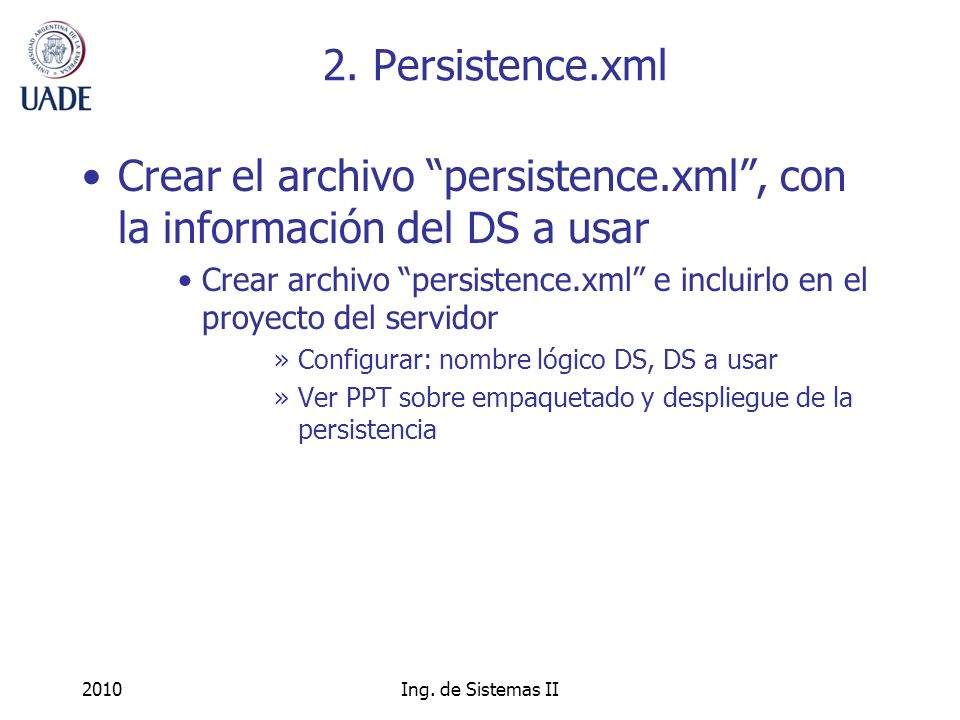 2010Ing. de Sistemas II 2.