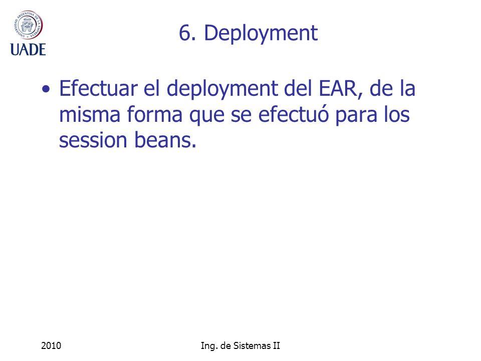 2010Ing. de Sistemas II 6.