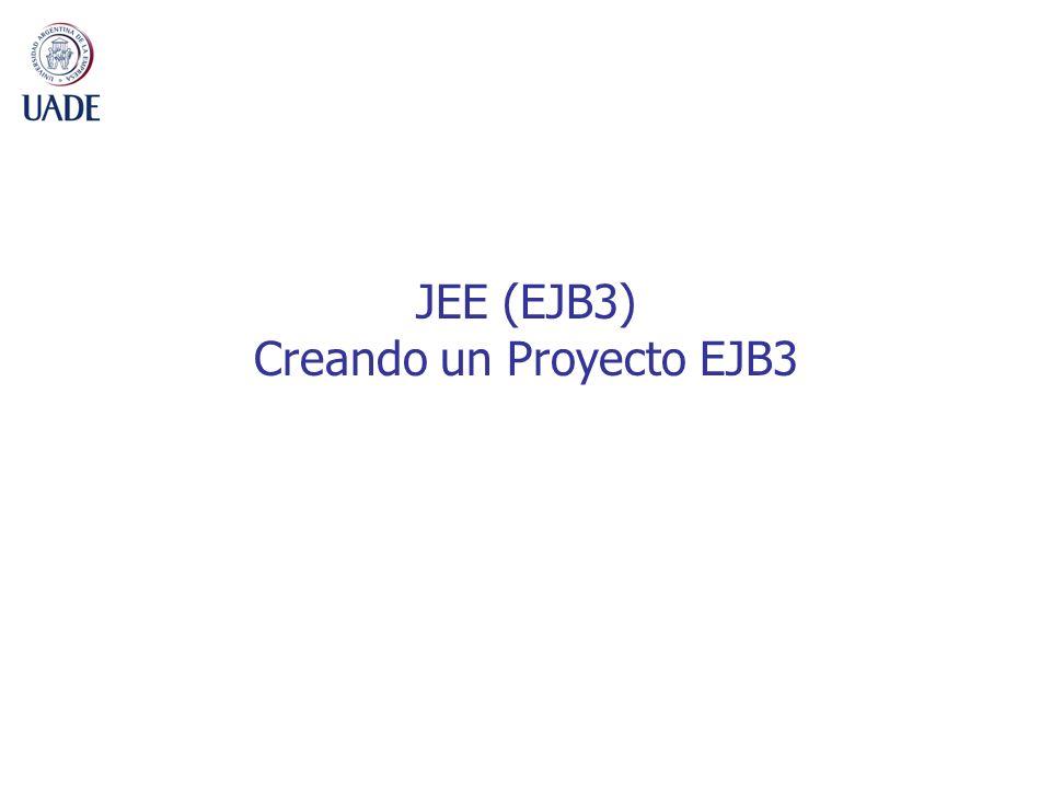 8 Nuevo Proyecto EJB3 1.File -> New -> Other -> EJB -> EJB Project -> Next 2.Ingresar nombre descriptivo del Proyecto 3.Seleccionar el Servidor de Aplicaciones (Ej: JBoss) 4.Activar la opción de Ear Membership, Add project to an EAR.