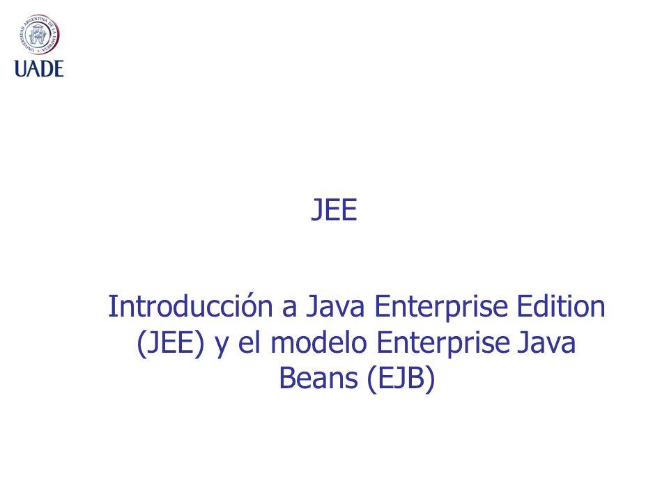 2 Arquitecturas Multi-capas Presentación, lógica de negocios y datos bien separados Servlet JSP Servidor Presentación Servidor Lógica Negocios Java Applet HTML Cliente Presentación Aplicación Java Otros PDAs, etc Desktop BrowserWeb Server JSP Enterprise Information Systems (EIS) DB Contenedor EJB Plataforma JEE DB