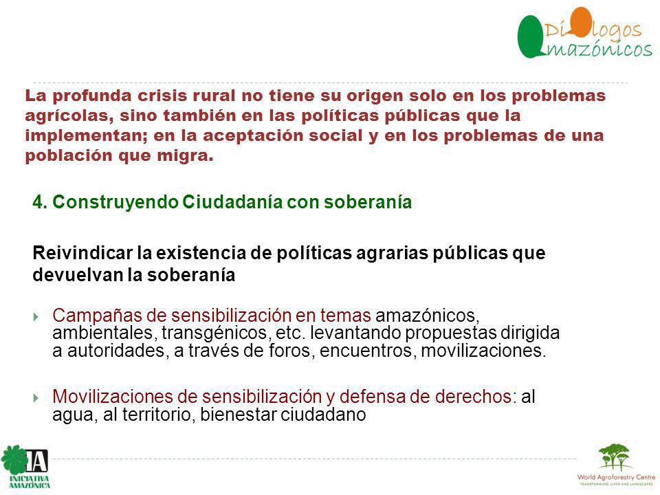 La profunda crisis rural no tiene su origen solo en los problemas agrícolas, sino también en las políticas públicas que la implementan; en la aceptación social y en los problemas de una población que migra.