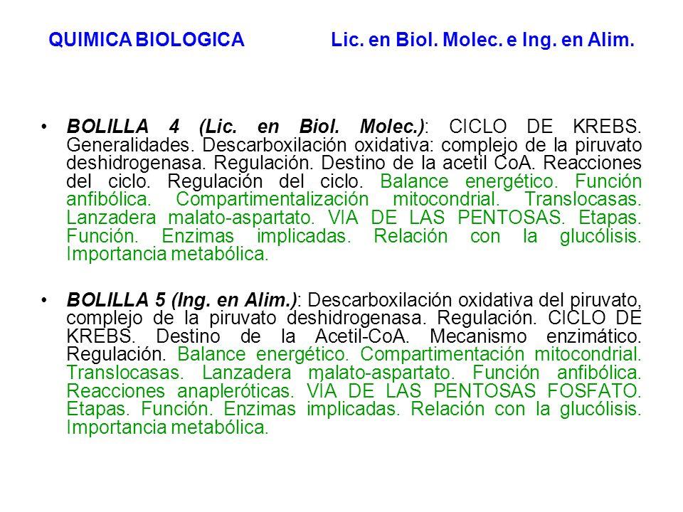 1 GLUCOSA 2 PIRUVATO VG Aerobiosis O2O2 Anaerobiosis O2O2 Fermentación Alcohólica (levaduras, algunos vertebrados marinos) Fermentación Láctica (músculo en contracción vigorosa, eritrocitos, lactobacilos) 2 Etanol + 2 CO 2 2 Lactato2 Acetil-CoA + 2 CO 2 4 CO 2 + 4 H 2 O CK Células animales (excepción eritrocitos), vegetales y muchos microorganismos.