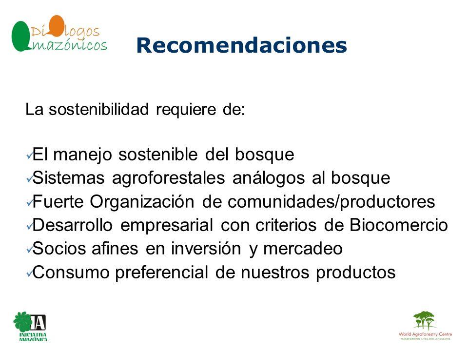 BOLIVIA La sostenibilidad requiere de: El manejo sostenible del bosque Sistemas agroforestales análogos al bosque Fuerte Organización de comunidades/p