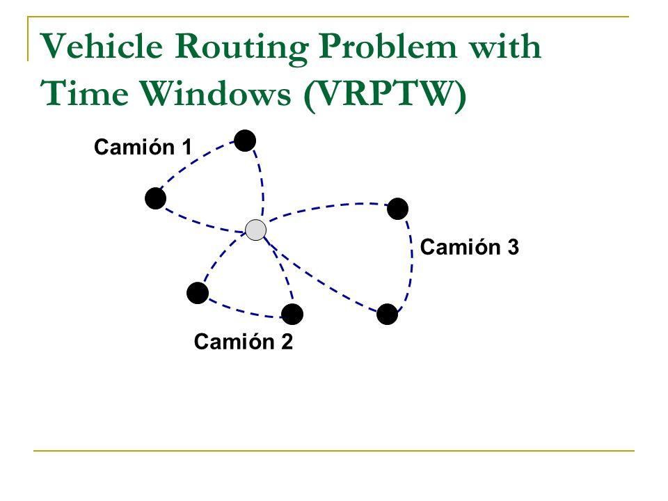 Vehicle Routing Problem with Time Windows (VRPTW) Camión 3 Camión 1 Camión 2