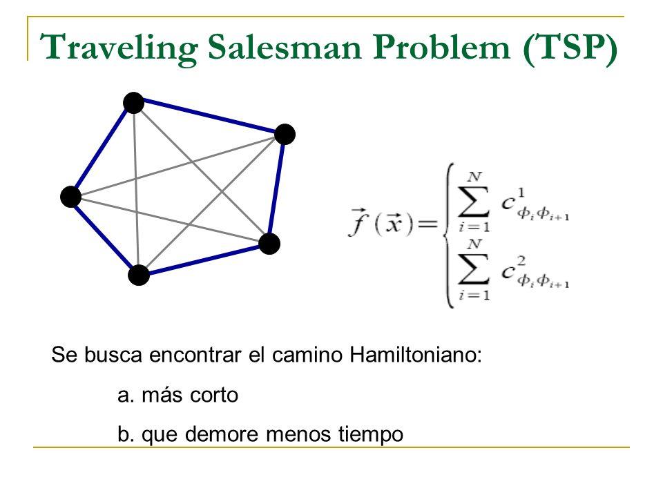 Quadratic Assignment Problem (QAP) Se busca ubicar las localidades de manera a minimizar el producto de las distancias y flujos.