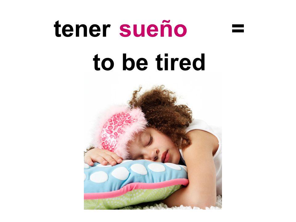 tener = to have pain in dolor de