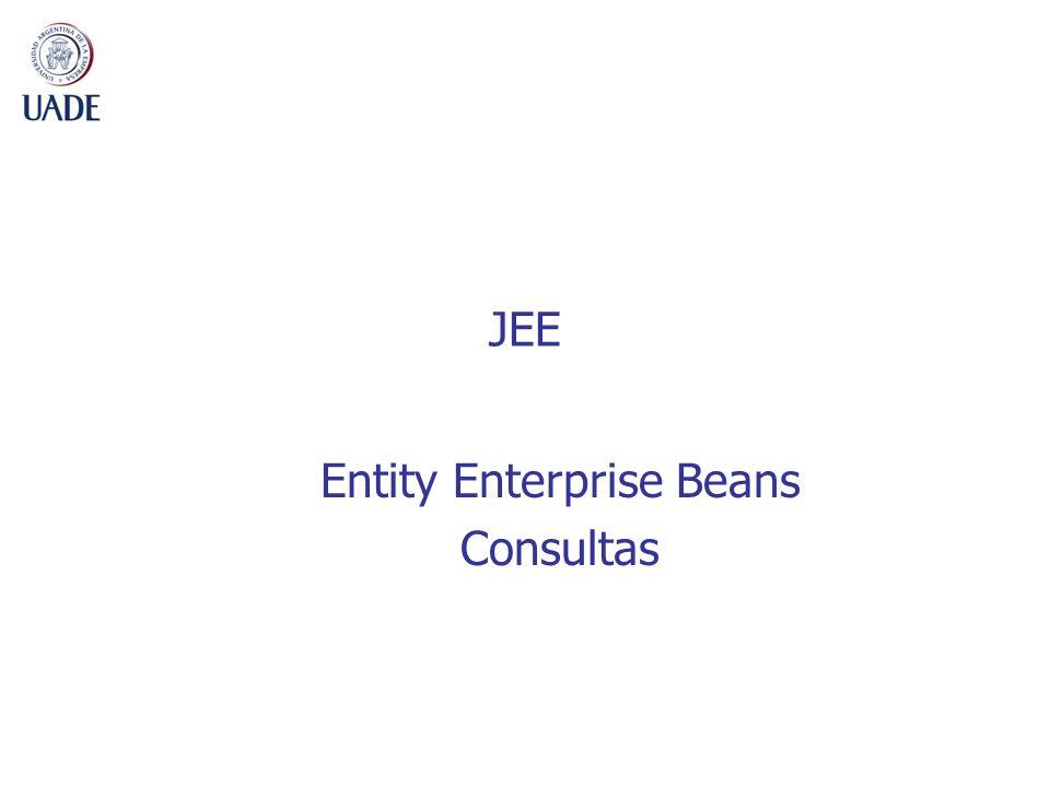 JEE Entity Enterprise Beans Consultas