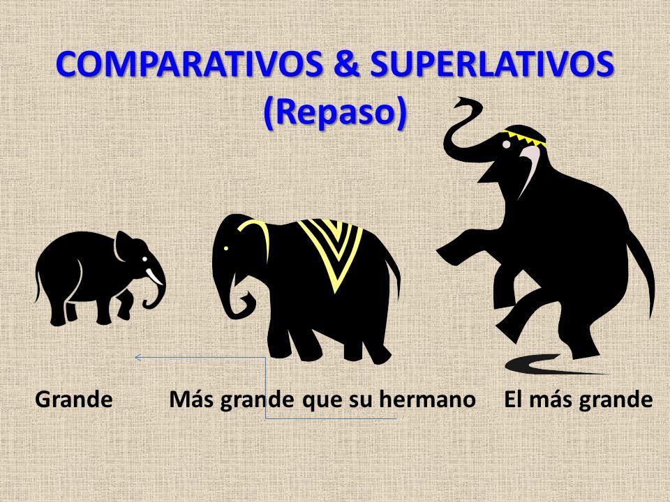 COMPARATIVOS & SUPERLATIVOS (Repaso) GrandeMás grande que su hermanoEl más grande