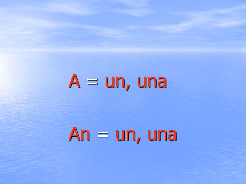 A + sustantivo singular en oraciones afirmativas, negativas e interrogativas cuando el sustantivo comienza por consonante There is a car.