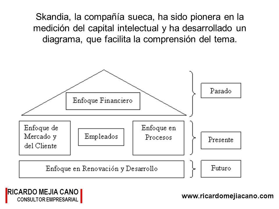 RICARDO MEJIA CANO CONSULTOR EMPRESARIAL www.ricardomejiacano.com Skandia, la compañía sueca, ha sido pionera en la medición del capital intelectual y