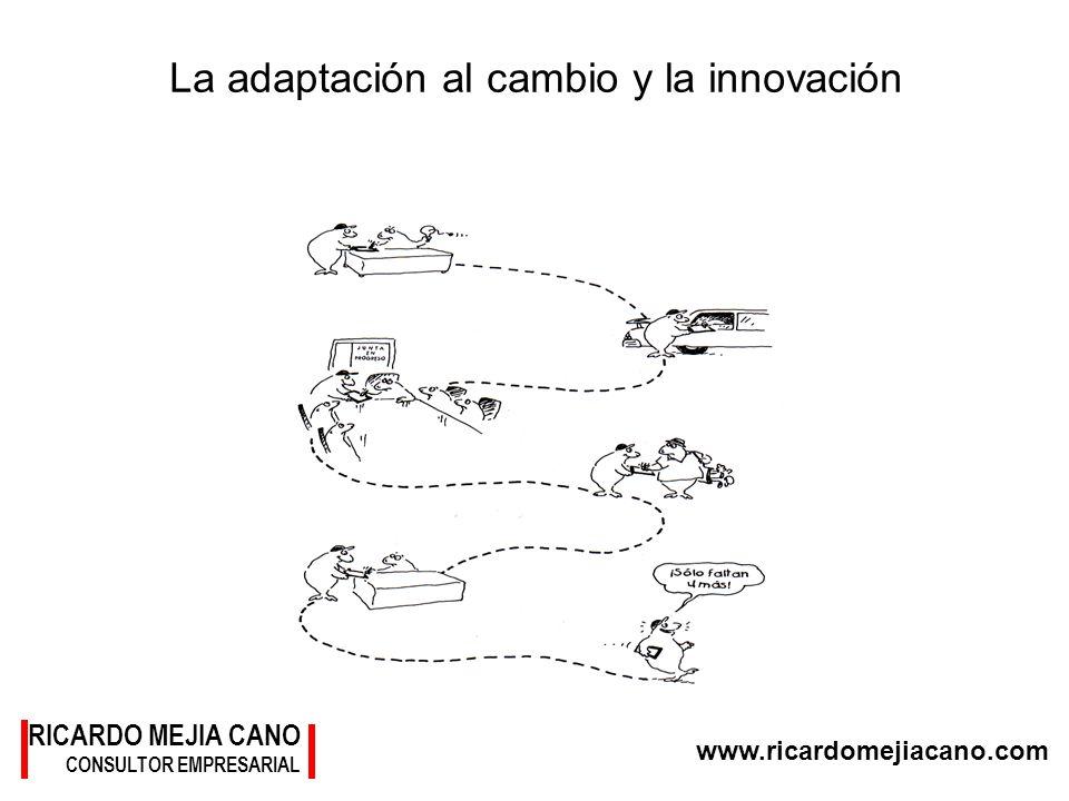 RICARDO MEJIA CANO CONSULTOR EMPRESARIAL www.ricardomejiacano.com La adaptación al cambio y la innovación